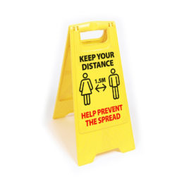 Social Distancing Freestanding Safety Sign